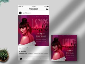 Ladies Night Party Free PSD Instagram Template