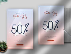 4th Of July Sale Free PSD Flyer Template
