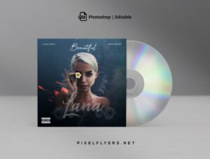 Beautiful Music CD Cover Free PSD Template