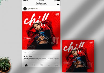 Chill Out Free Instagram Post PSD Template