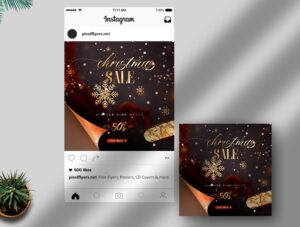 Christmas Sale Banner Free Instagram Post PSD Template