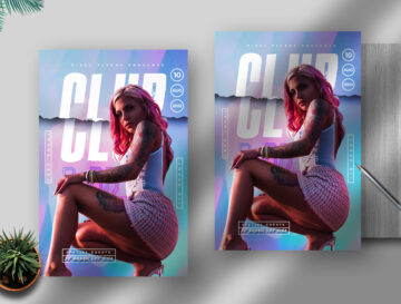 Club Life Flyer Free PSD Template
