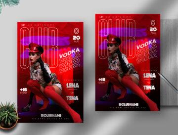 Club Vodka Flyer Free PSD Template