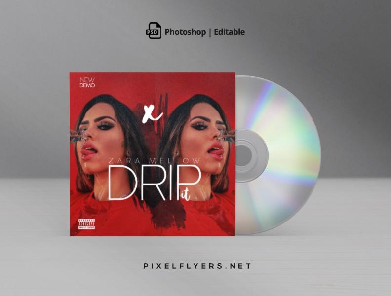 Drip it Mixtape CD Cover Free PSD Template