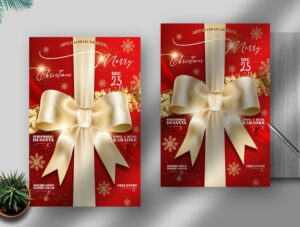 Elegant Christmas Free PSD Flyer Template