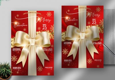 Elegant Christmas Free PSD Flyer Template