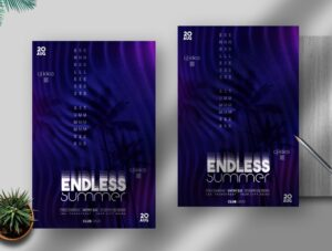 Endless Summer Free PSD Flyer Template Vol2