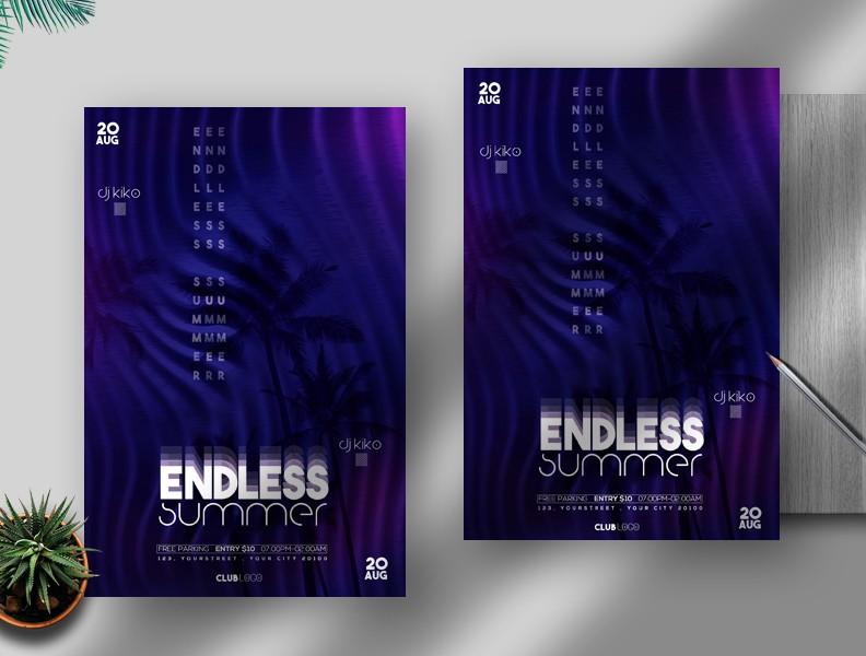 Endless Summer Free PSD Flyer Template Vol2