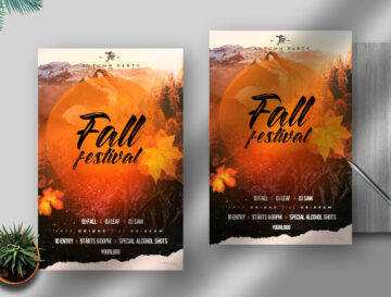 Fall Festival Free Flyer PSD Template