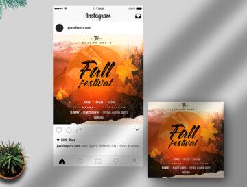 Fall Festival Free Instagram Banner (PSD)
