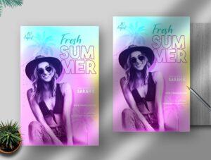 Fresh Summer Free PSD Flyer Template
