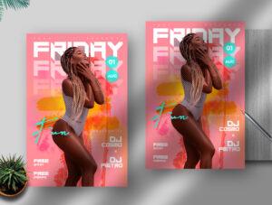 Friday Fun PSD Flyer Template