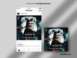 Halloween Night Instagram Banner Template