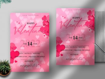 Happy Valentine's Day Free PSD Flyer Template