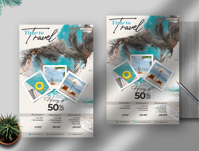 Holiday Travel Free Flyer PSD Template