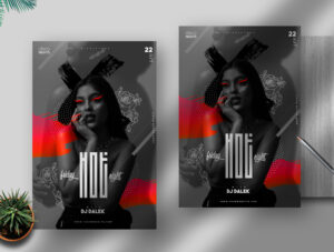 Hot Friday Night Free PSD Flyer Template