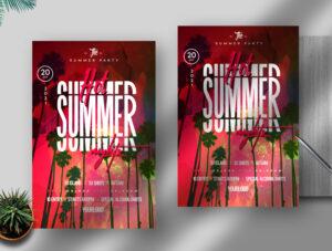 Hot Summer Nights Free Flyer PSD Template