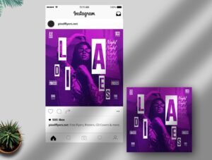 Ladies Night Out Free Instagram Post PSD Template