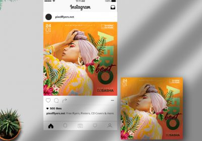 Afro Beat Party Free Instagram Post PSD Template