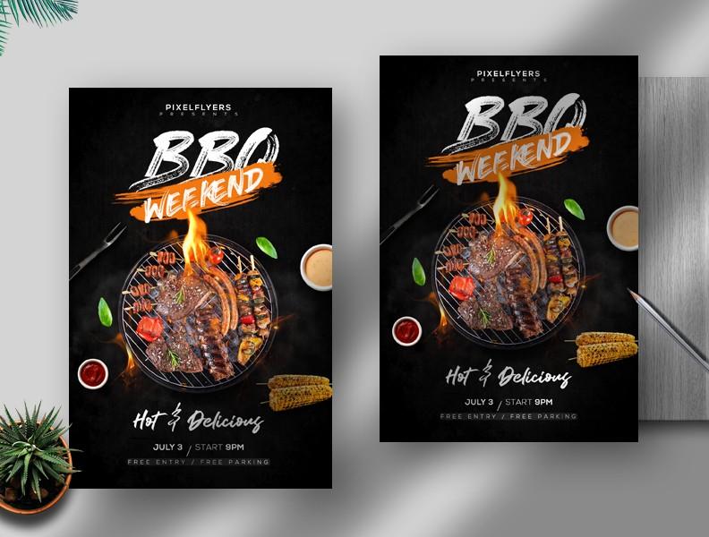 BBQ Weekend Free PSD Flyer Template