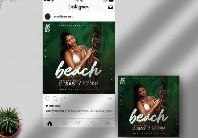 Beach Days Free Instagram Post PSD Template