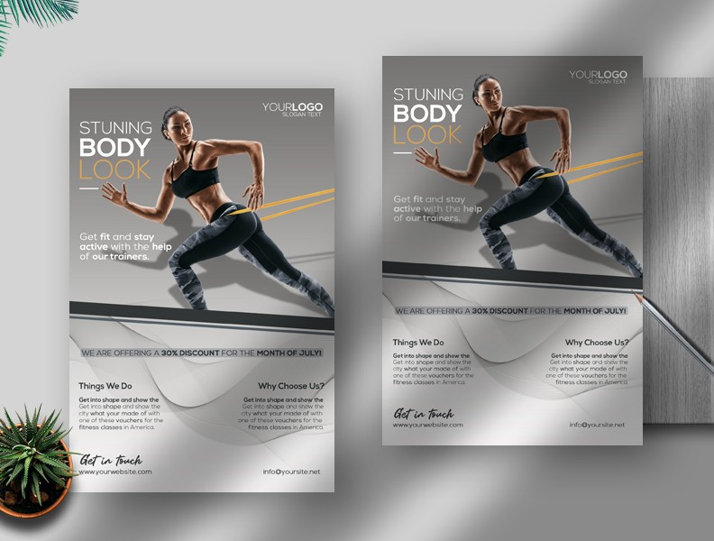 Free Creative Fitness Flyer PSD Template