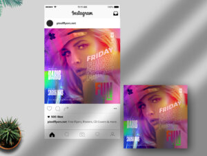 Friday Fun Party Free Instagram Post PSD Template