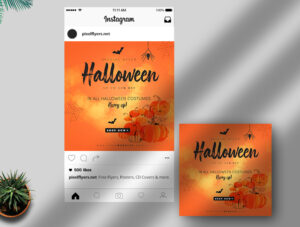 Halloween Free Instagram Post PSD Template