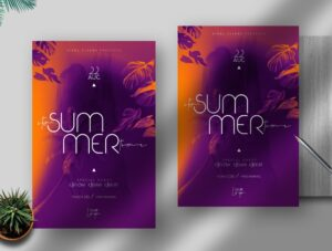It's Summer Time Free PSD Flyer Template