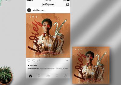 Ladies Vibes Free Instagram Post PSD Template