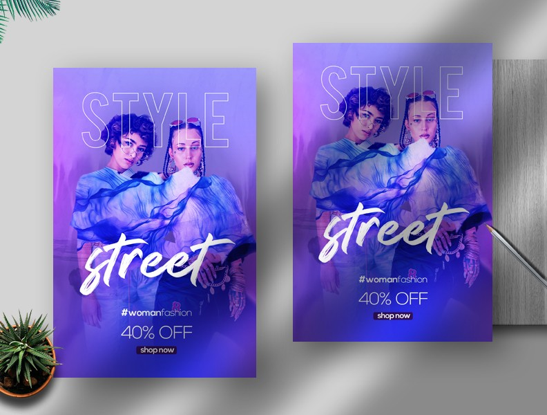 Street Style Fashion Free PSD Flyer Template