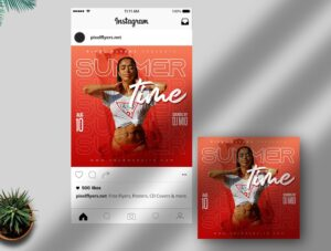 Summer Time Free Instagram Post PSD Template