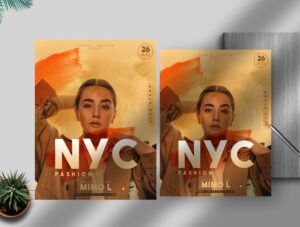 Nyc Fashion Flyer Free PSD Template