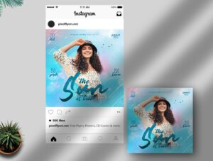 Sun Is Out Free Instagram Post PSD Template