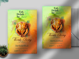 Thanks Giving Party Free PSD Flyer Template
