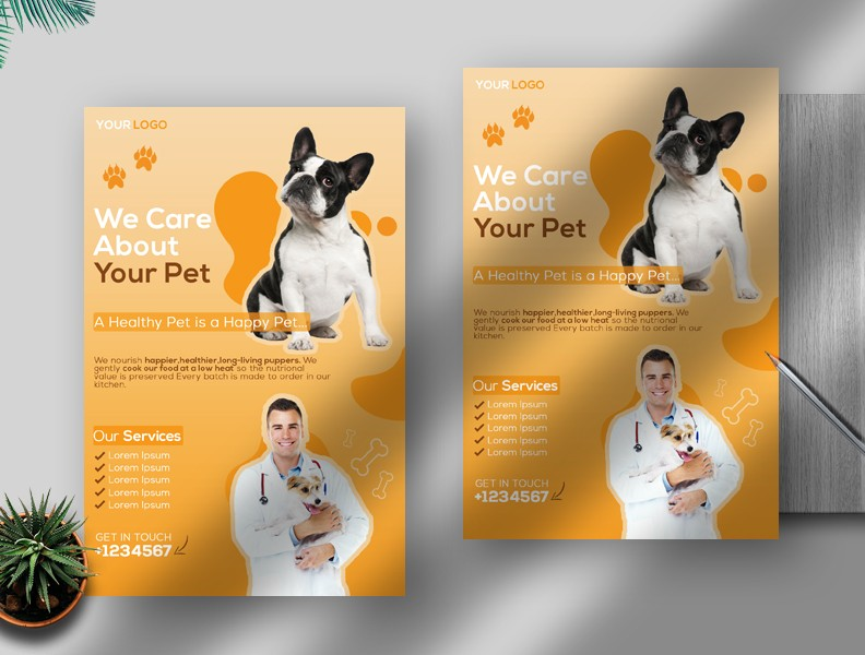 Veterinary Free PSD Flyer Template