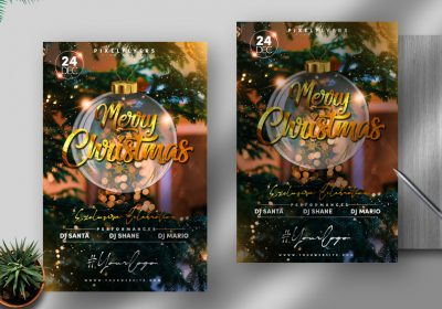 Merry Christmas Free PSD Flyer Template