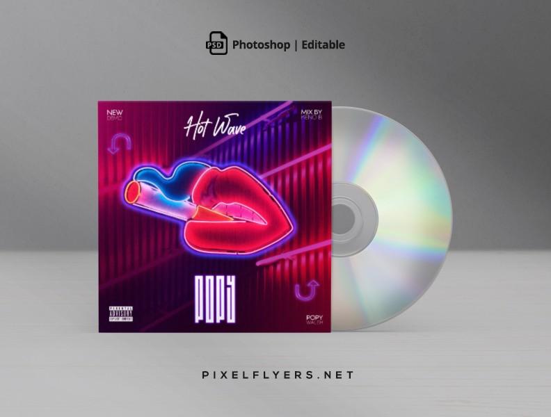 Neon Hot Wave Mixtape Free CD Cover Artwork