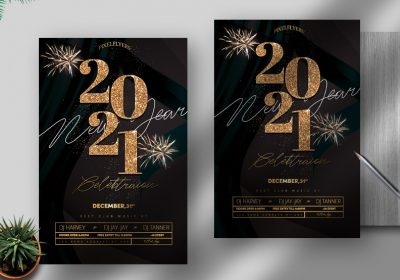 New Year Event Free PSD Flyer Template