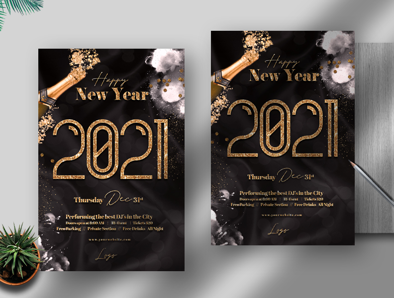 New Years Free PSD Flyer Template