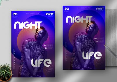 Night Life Free PSD Flyer Template