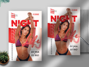 Night Life PSD Flyer Template