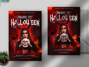 Night Of Halloween Free Flyer PSD Template