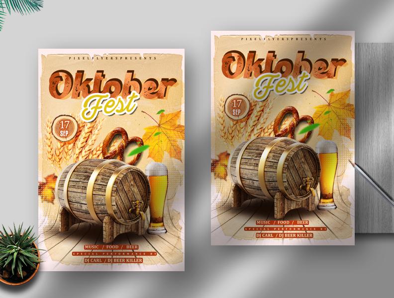 Oktober Fest Free Flyer PSD Template