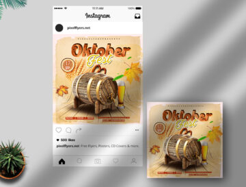 Oktober Fest Free Instagram Banner (PSD)