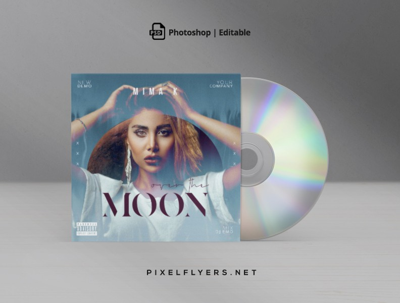 Over The Moon CD Cover Free PSD Template
