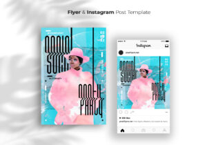 Party Flyer & Instagram Banner Template