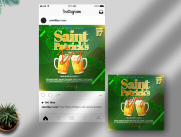 Saint Patrick's Day Free Instagram Post PSD Template
