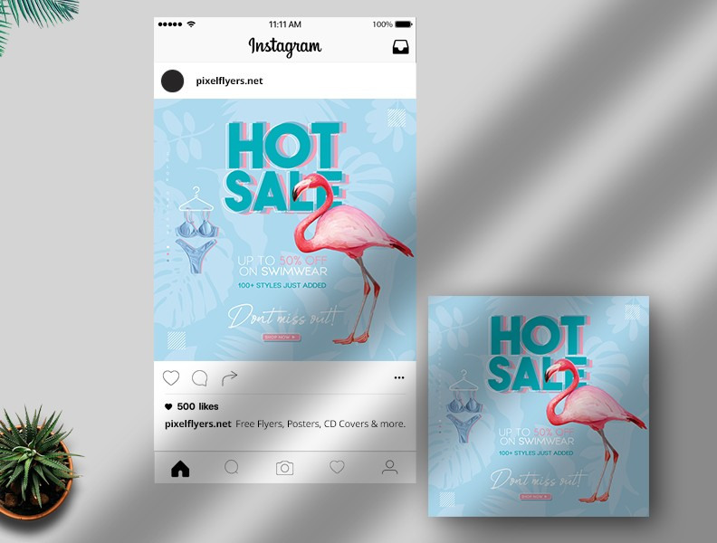 Sale Banner Free Instagram Post PSD Template