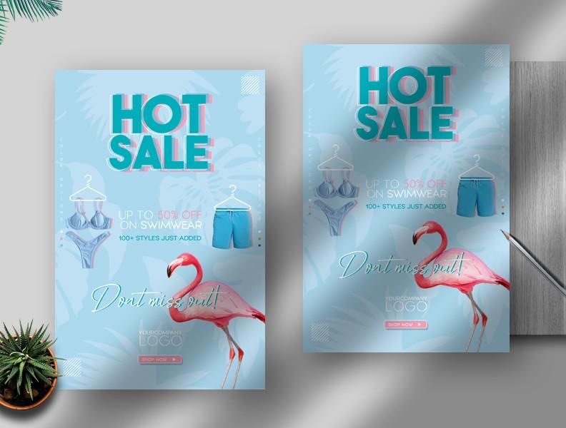 Summer Hot Sale Free Flyer Template (PSD)